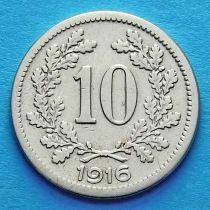 Австрия 10 геллеров 1915-1916 год. Герб.