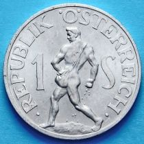 Австрия 1 шиллинг 1952 год.
