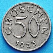 Австрия 50 грошей 1935 год.