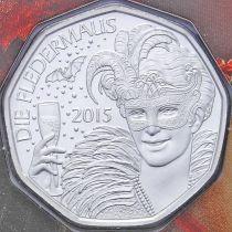 Австрия 5 евро 2015 год. Серебро. Летучая мышь