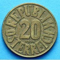 Австрия 20 грошей 1954 г.