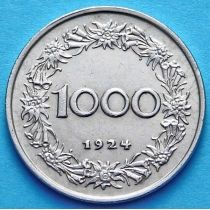 Австрия 1000 крон 1924 год. Маргарита Маульташ.