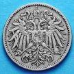 Монета Австрии 10 геллеров 1893-1895 год.