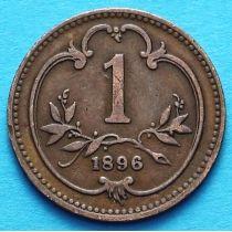 Австрия 1 геллер 1896-1914 год.