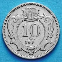 Австрия 10 геллеров 1894 год.
