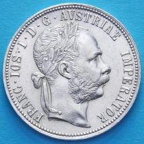 Австрия 1 флорин 1884 год. Серебро.