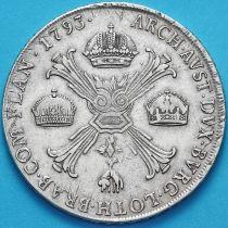 Бельгия, Австрийские Нидерланды 1 кроненталер 1793 год. М