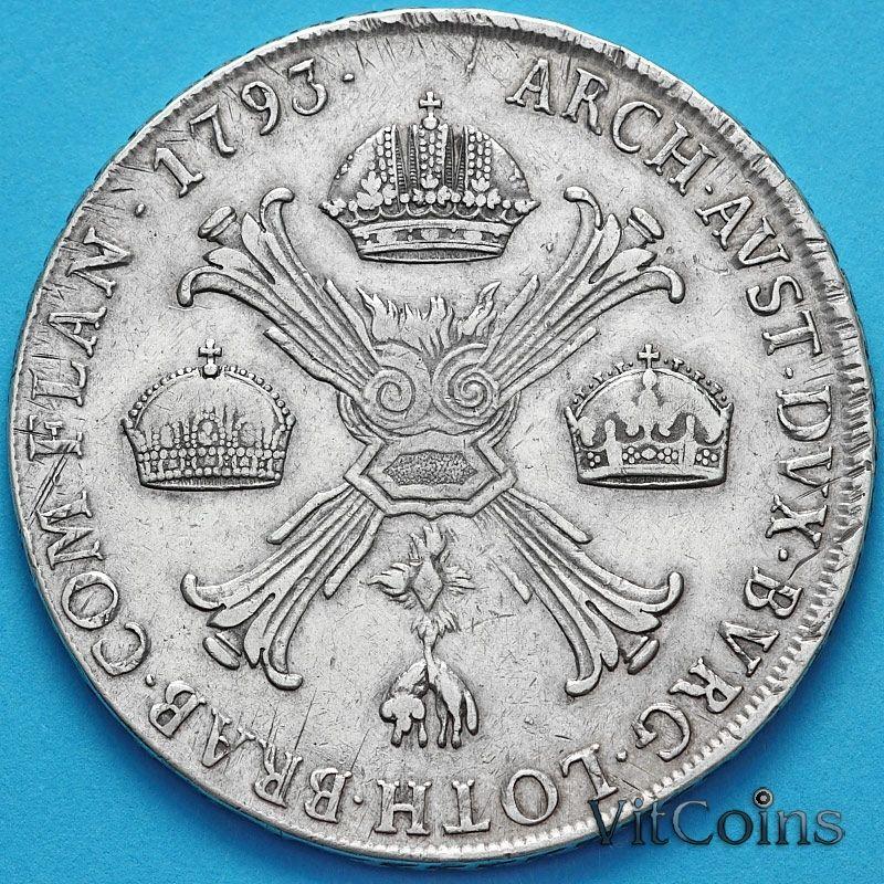 Монета Бельгия, Австрийские Нидерланды 1 кроненталер 1793 год. М