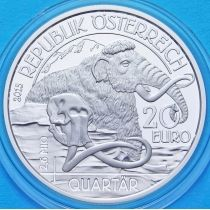 Австрия 20 евро 2015 год. Четвертичный период. Серебро.