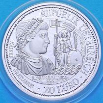 Австрия 20 евро 2012 год. Серия Рим на Дунае. Лауриакум. Серебро