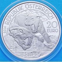 Австрия 20 евро 2014 год. Третичный период. Серебро
