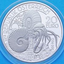 Австрия 20 евро 2013 год. Триасовый период. Серебро