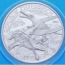 Австрия 20 евро 2013 год. Юрский период. Серебро
