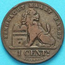 Бельгия 1 сантим 1887 год. Фламандский вариант.