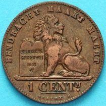 Бельгия 1 сантим 1907 год. Фламандский вариант.