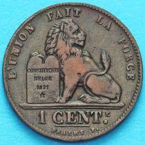 Бельгия 1 сантим 1869-1899 год. Французский вариант.