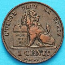 Бельгия 1 сантим 1907 год. Французский вариант.