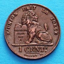 Лот 10 монет Бельгии 1 сантим 1912 год. Французский вариант.