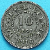 Бельгия 10 сантим 1916 год.