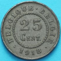 Бельгия 25 сантим 1918 год.