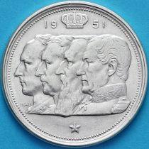 Бельгия 100 франков 1951 год. Фламандский вариант. Серебро. №2