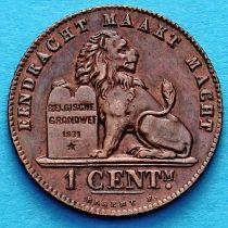 Бельгия 1 сантим 1912 год. Фламандский вариант. аUNC.