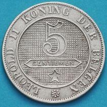 Бельгия 5 сантим 1895 год. Фламандский вариант.