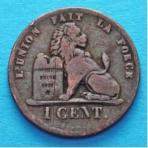 Бельгия 2 сантима 1860-1864 год. Французский вариант.