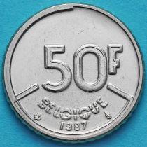 Бельгия 50 франков 1987-1993 год. Французский вариант.