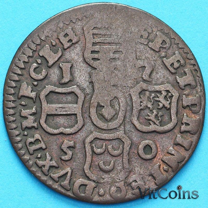 Монета Бельгия, Льеж 1 лиард 1750 год.