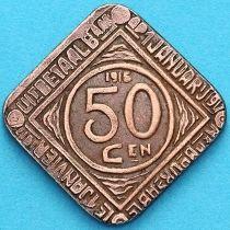 Бельгия, Гент 50 сантим 1915 год. Нотгельд.