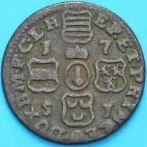 Бельгия, Льеж 1 лиард 1751 год.