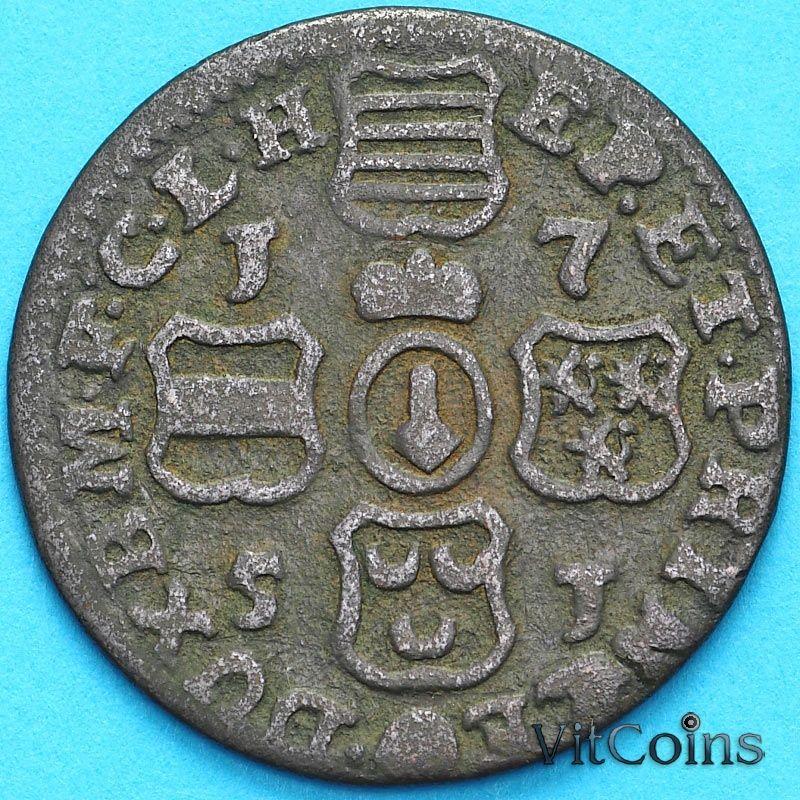 Монета Бельгия, Льеж 1 лиард 1751 год.