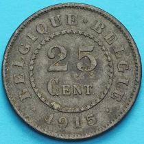 Бельгия 25 сантим 1915 год. VF.