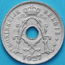 Бельгия 25 сантим 1927 год. Фламандский вариант.
