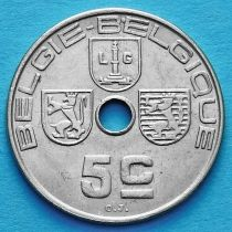 Бельгия 5 сантим 1939-1940 год. 'BELGIE-BELGIQUE'.
