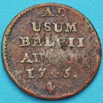 Бельгия, Австрийские Нидерланды 1 лиард 1745 год.