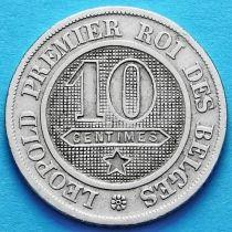 Бельгия 10 сантим 1861 год. Французский вариант.