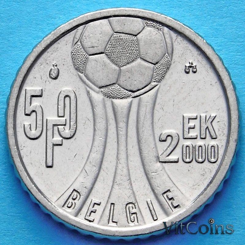 Монета Бельгии 50 франков 2000 год. Чемпионат Европы по футболу. Фламандский вариант.