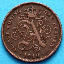 Бельгия 2 сантима 1910 год. Фламандский вариант
