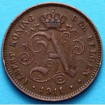 Бельгия 2 сантима 1911 год. Фламандский вариант