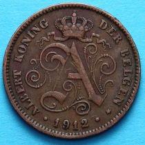 Бельгия 2 сантима 1912 год. Фламандский вариант.