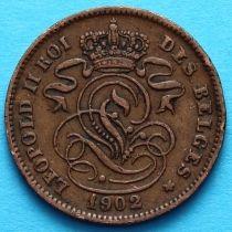 Бельгия 2 сантима 1902 год. Французский вариант.