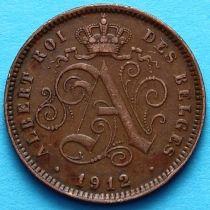 Бельгия 2 сантима 1912 год. Французский вариант