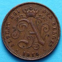 Бельгия 2 сантима 1914 год. Французский вариант