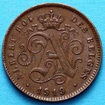 Бельгия 2 сантима 1919 год. Французский вариант.