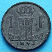 Лот 10 монет Бельгии 1 франк 1942-1944 год. Фламандско-французский вариант.