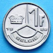 Бельгия 1 франк 1989-1991 год. Фламандский вариант.