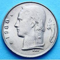 Бельгия 1 франк 1966-1988 год. Фламандский вариант.