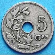 Бельгия 5 сантим 1904-1907 год. Фламандский вариант